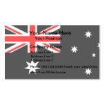 Bandera monocromática de Australia Plantillas De Tarjetas Personales