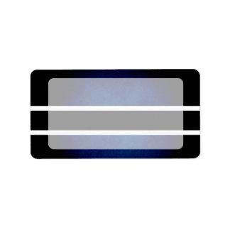 Bandera monocromática de Botswana Etiqueta De Dirección