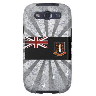 Bandera monocromática de British Virgin Islands Galaxy SIII Carcasas