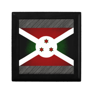 Bandera monocromática de Burundi Caja De Joyas