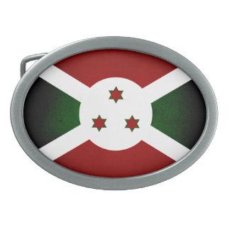 Bandera monocromática de Burundi Hebillas De Cinturón Ovales