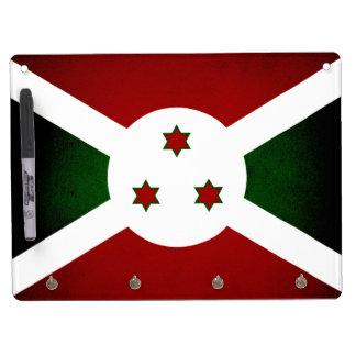 Bandera monocromática de Burundi Pizarras Blancas De Calidad