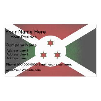 Bandera monocromática de Burundi Tarjetas Personales