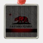 Bandera monocromática de California Adornos