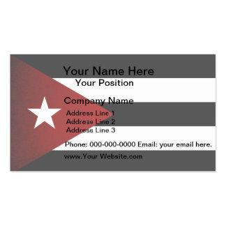 Bandera monocromática de Cuba Tarjetas De Visita