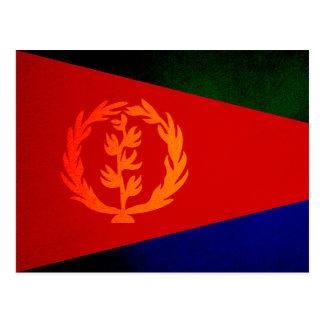 Bandera monocromática de Eritrea Tarjeta Postal