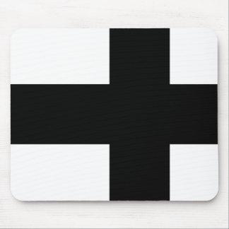 Bandera monocromática de Finlandia Alfombrillas De Ratón
