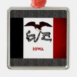 Bandera monocromática de Iowa Ornamento Para Arbol De Navidad