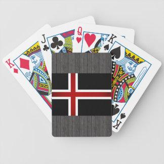 Bandera monocromática de Islandia Barajas De Cartas