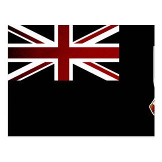 Bandera monocromática de Islas Malvinas Postal