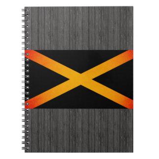 Bandera monocromática de Jamaica Libro De Apuntes Con Espiral