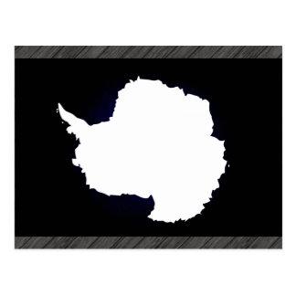 Bandera monocromática de la Antártida Tarjetas Postales