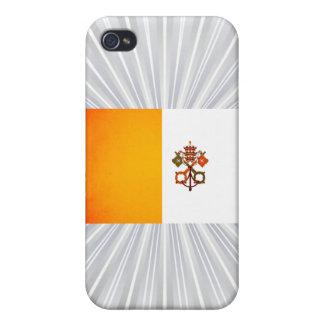Bandera monocromática de la Ciudad del Vaticano iPhone 4 Fundas