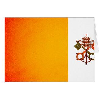 Bandera monocromática de la Ciudad del Vaticano Tarjeton