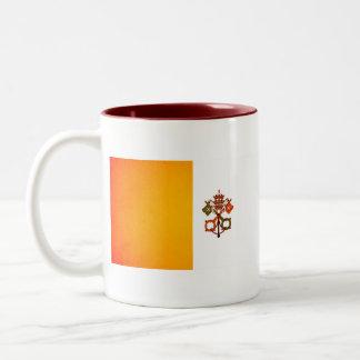 Bandera monocromática de la Ciudad del Vaticano Taza