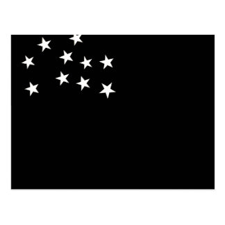 Bandera monocromática de la república de Vermont Tarjetas Postales