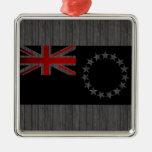 Bandera monocromática de las islas de cocinero ornamentos de navidad