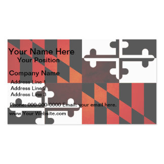 Bandera monocromática de Maryland Tarjetas Personales