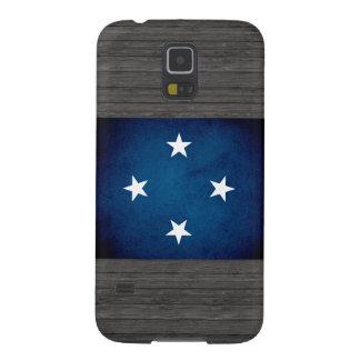 Bandera monocromática de Micronesia Carcasas Para Galaxy S5