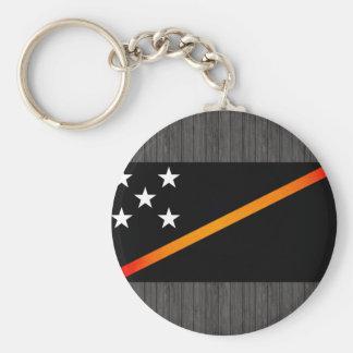 Bandera monocromática de Solomon Island Llavero Personalizado