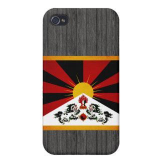 Bandera monocromática de Tíbet iPhone 4 Cobertura