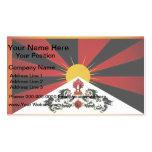 Bandera monocromática de Tíbet Tarjetas De Visita