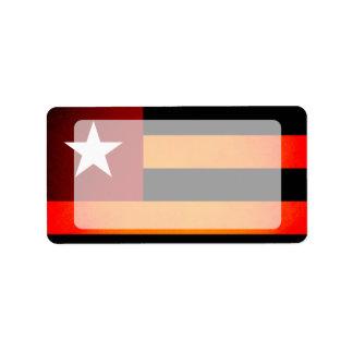 Bandera monocromática de Togo Etiquetas De Dirección