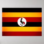 Bandera monocromática de Uganda Posters