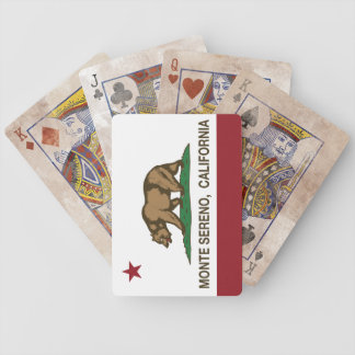 Bandera Monte Sereno de la república de California Baraja De Cartas