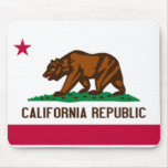 Bandera Mousepad de California Tapete De Raton