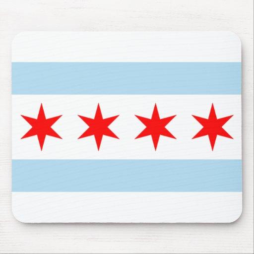 Bandera Mousepad de Chicago Alfombrilla De Ratón