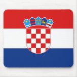 Bandera Mousepad de Croacia Alfombrillas De Ratón