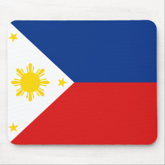 Bandera Mousepad de Filipinas Alfombrilla De Ratones