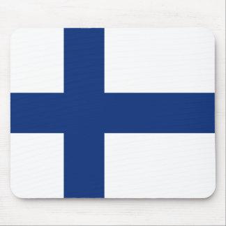 Bandera Mousepad de Finlandia Tapetes De Ratones