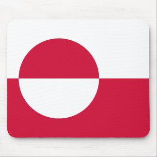 Bandera Mousepad de Groenlandia Tapetes De Raton