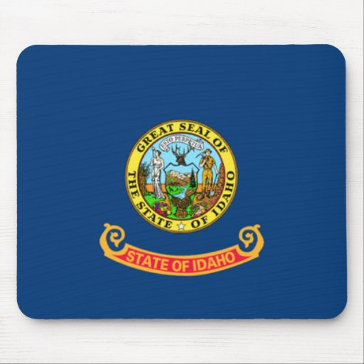 Bandera Mousepad de Idaho Tapete De Ratón