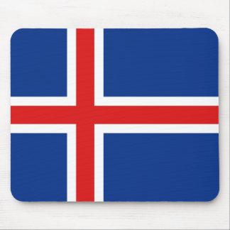 Bandera Mousepad de Islandia Tapetes De Raton