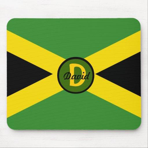 Bandera Mousepad de Jamaica del monograma Tapete De Ratón