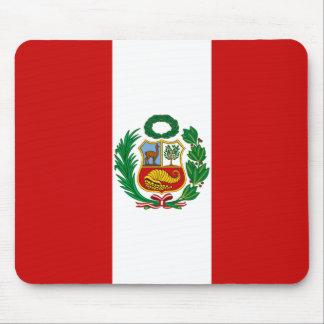 Bandera Mousepad de Perú Tapete De Ratones