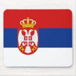 Bandera Mousepad de Serbia Alfombrilla De Ratones