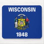 Bandera Mousepad de Wisconsin Alfombrilla De Ratón