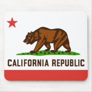 Bandera Mousepad del estado de California
