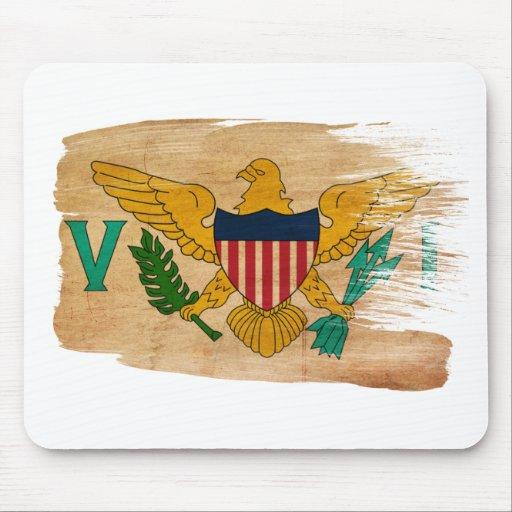 Bandera Mousepads de las Islas Vírgenes