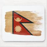 Bandera Mousepads de Nepal Tapete De Ratón
