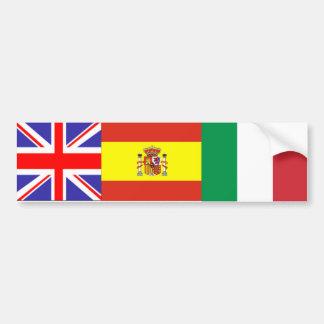 bandera multi pegatina para auto