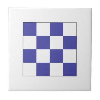 Bandera N del ICS Azulejo Cuadrado Pequeño