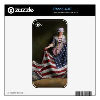 - Bandera - nacimiento americana de la bandera Calcomanías Para El iPhone 4S
