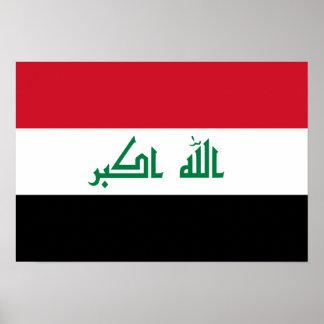Bandera nacional actual de Iraq Póster