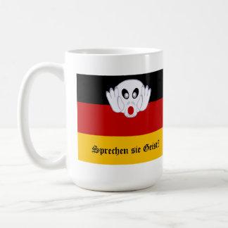 Bandera nacional alemana de Geist del sie de Sprec Taza Básica Blanca