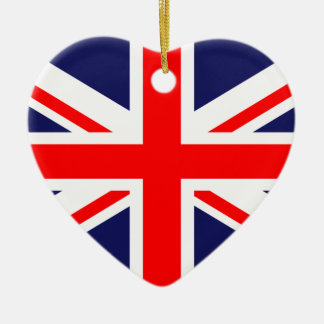 Bandera nacional BRITÁNICA de Reino Unido Gran Bre Ornamentos De Navidad